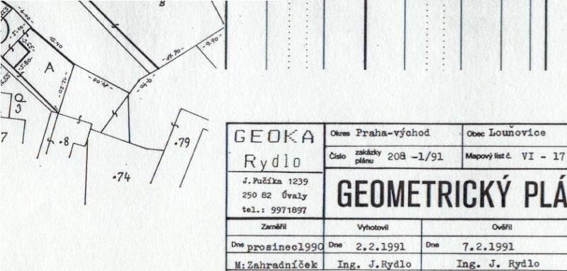 1. geom. plán GEOKA